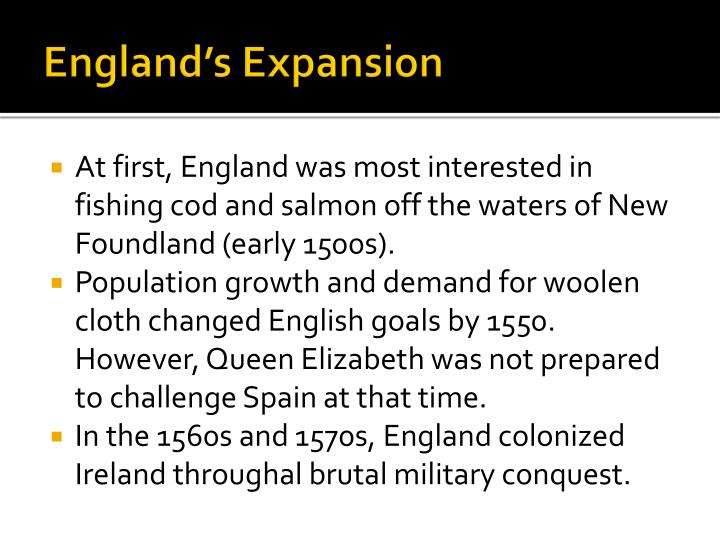 england s expansion n.