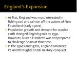 england s expansion
