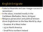 english emigrate