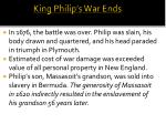 king philip s war ends