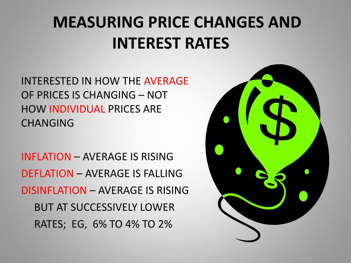 measuring price changes and interest rates n.