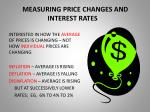 measuring price changes and interest rates