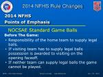 2014 nfhs points of emphasis2