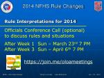 rule interpretations for 20141