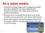 as a mass media