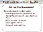 1 constitutional limit the math