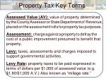 property tax key terms