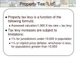 property tax lid