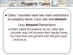 property taxes1