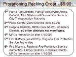 prorationing pecking order 5 90
