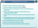 aim faq table of contents