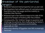breakdown of the patriarchal bargain