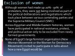 exclusion of women