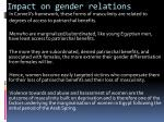 impact on gender relations1