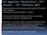 the egyptian revolution 25 th january 11 th february 2011