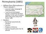 pennsylvania 1681