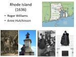 rhode island 1636