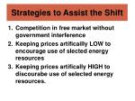 strategies to assist the shift