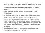 fiscal expansion of 1970s and the debt crisis of 1982