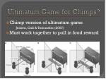 ultimatum game for chimps