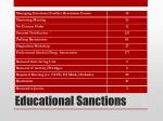 educational sanctions1