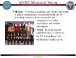 afhsc mission vision