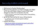 security tidbit continued