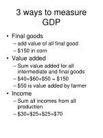 3 ways to measure gdp