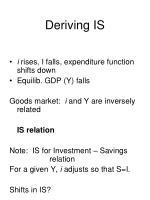 deriving is