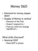 money s d