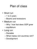 plan of class