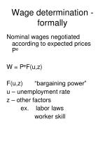 wage determination formally