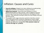 inflation causes and cures2