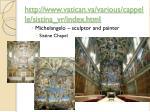 http www vatican va various cappelle sistina vr index html