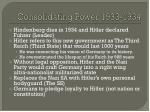 consolidating power 1933 1934