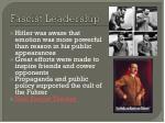 fascist leadership