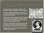 nazi laws against the jews