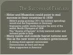 the success of fascism