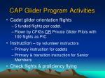 cap glider program activities