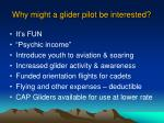 why might a glider pilot be interested6