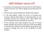 gdp deflator versus cpi