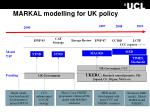 markal modelling for uk policy