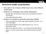structural model uncertainties