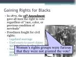 gaining rights for blacks