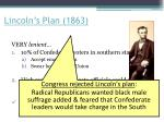 lincoln s plan 1863