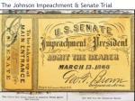 the johnson impeachment senate trial
