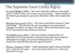 the supreme court limits rights