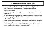 laspeyre and paasche indices
