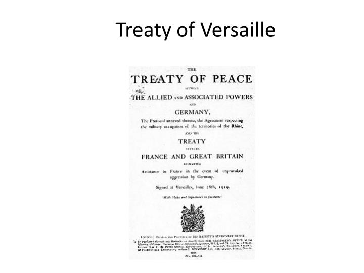 treaty of versaille n.