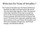 what was the treaty of versailles